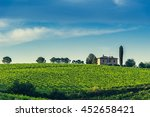 vineyard in the chianti region... | Shutterstock . vector #452658421