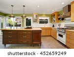 kitchen room interior with... | Shutterstock . vector #452659249