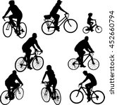 bicycle silhouettes collection... | Shutterstock .eps vector #452660794