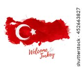 symbol  poster  banner turkey.... | Shutterstock .eps vector #452663827