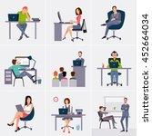 business process infographics... | Shutterstock . vector #452664034