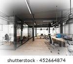 sketch design of interior...   Shutterstock . vector #452664874