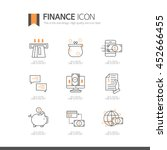 finance line icon set | Shutterstock .eps vector #452666455