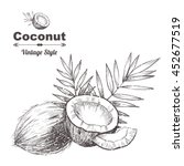 vector background with  coconut ... | Shutterstock .eps vector #452677519