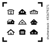 houses icons collection.... | Shutterstock .eps vector #452679271