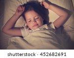 adorable sleeping little girl | Shutterstock . vector #452682691