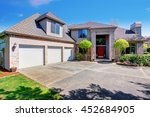 large modern house with three... | Shutterstock . vector #452684905
