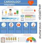 flat design cardiology...   Shutterstock .eps vector #452687449