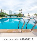 swimming pool edge with ladder  ... | Shutterstock . vector #452690611