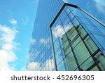 skyscraper with glass facade.... | Shutterstock . vector #452696305