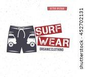 vintage surfing wear stamp... | Shutterstock . vector #452702131