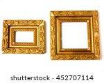vintage golden frames with... | Shutterstock . vector #452707114