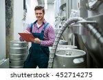 portrait of maintenance worker... | Shutterstock . vector #452714275