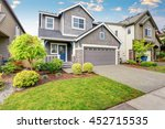 nice curb appeal of two level... | Shutterstock . vector #452715535