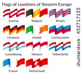 set of flying flags of western... | Shutterstock .eps vector #452717155