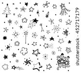 drawing vector of star doodle... | Shutterstock .eps vector #452717179