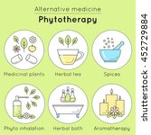 vector set of phytotherapy... | Shutterstock .eps vector #452729884