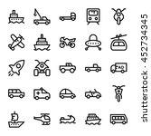 transport vector icons 5 | Shutterstock .eps vector #452734345
