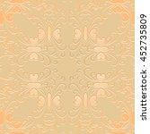 openwork pattern embossed... | Shutterstock .eps vector #452735809