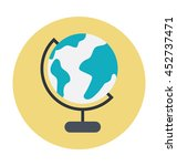 globe colored vector... | Shutterstock .eps vector #452737471
