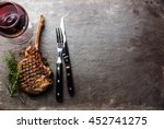 grilled beef barbecue veal rib...   Shutterstock . vector #452741275