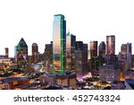 Dallas City Skyline At Dusk ...