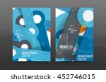annual report cover. geometric... | Shutterstock .eps vector #452746015