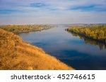 Landscape River  Autumn  Yello...