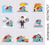 home and house insurance  | Shutterstock . vector #452746717