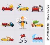 car and transportation... | Shutterstock . vector #452746729