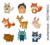 forest animals illustration | Shutterstock . vector #452748511