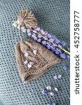 newborn baby knitted hat | Shutterstock . vector #452758777