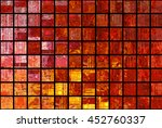 bright abstract mosaic red... | Shutterstock . vector #452760337