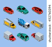 flat 3d isometric high quality... | Shutterstock . vector #452760394