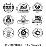 collection of photography logo ... | Shutterstock . vector #452761201