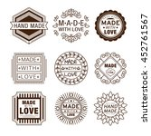 retro design insignias... | Shutterstock . vector #452761567