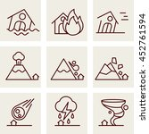 natural disaster icons   Shutterstock . vector #452761594