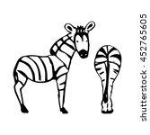 a simple zebra pattern in black ...   Shutterstock .eps vector #452765605