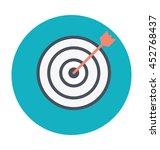 archery target colored vector... | Shutterstock .eps vector #452768437