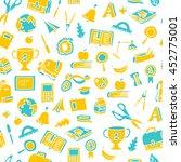 freehand drawing school pattern ... | Shutterstock .eps vector #452775001