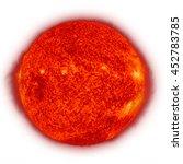 solar system   sun. isolated...