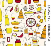 seamless pattern with bottles ... | Shutterstock .eps vector #452793499