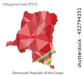 democratic republic of the... | Shutterstock .eps vector #452794351