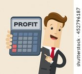 businessman or manager holds a... | Shutterstock .eps vector #452796187