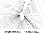 architecture abstract  3d... | Shutterstock .eps vector #452808067