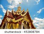 golden isosceles structure on... | Shutterstock . vector #452808784