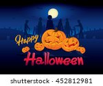 halloween party invitation... | Shutterstock .eps vector #452812981