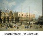 the square of saint mark's ...   Shutterstock . vector #452826931