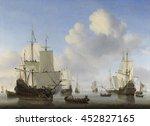 Dutch Ships In A Calm  By...