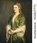 portrait of a lady  by titian ... | Shutterstock . vector #452827771